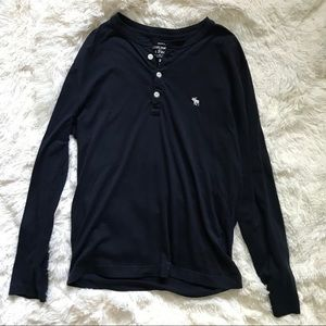 ABERCROMBIE & FITCH long sleeve henley t-shirt